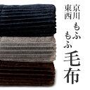 【全品ポイント5倍 10/15 23:59迄】東京西川 MOFU-MOFU BLANKET シングル 140×200cm もふもふ毛布 2枚合わせ毛布 フランネル 洗える …