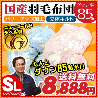 Lightweight cloth use white down new standard 85% power-up processing duvet / うもうぶとん / feather futon / feather ぶとん single is long more than domestic dp300