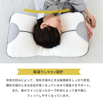西川まくらクーシェ高さ調節究極枕_寝返り設計