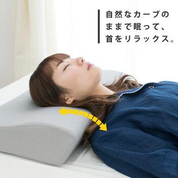 【送料無料】4Dde『首を解放』ネックピローまくら枕約56×34×10.5cm立体構造4D枕ストレートネックスマホ首肩こり首こり横向き寝サポートいびき防止頸椎サポート快眠健康ギフト贈り物【あす楽対応】
