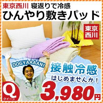 東京西川接觸冷感冷冰冰的鋪設墊襯女王西川冷冰冰的墊子冷卻墊子夏天鋪設推球