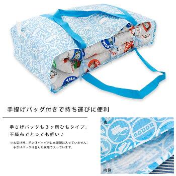 手提げバッグも3ヶ所ヨコひも、不織布で軽い!