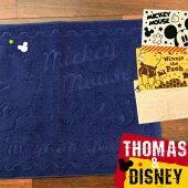 DisneyTHOMASキャラクタータオル地バスマット45×60cmミッキーミニープーさんトーマスエイリアンポテトヘッド