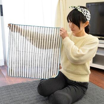 日本製nunosaiヌノサイガーゼハンカチ約50×50cm国産ハンカチ風呂敷バンダナモノクロモノトーン薄手