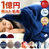 Doubleness that approximately 2 kg of two pieces of Nishikawa blanket singles alignment Tokyo Nishikawa hangs Mayer blanket (140*200cm) もうふ with the neckband plumply and can wash in the bedclothing Golden night in blanket fall and winter