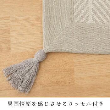 インド綿ラグクラック3帖用185×240インド綿3畳用