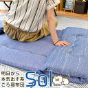 ごろ寝マット ひんやり 接触冷感素材&パイル生地 リバーシブル 70×180cm 固綿入りの三層構造 【大人 ごろ寝座布団 …