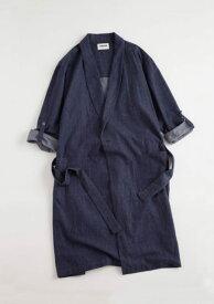 NOWHAW(ノウハウ) mood-gown denim ガウン デニム 綿100%  ルームウェア 日本製 ほぼ日 nowhaw バレンタイン