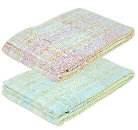 タオルケット シングルサイズ 140×190cm 綿100% ブルー、ピンク 京都西川 洗える ウォッシャブル 夏用 西川株式会社