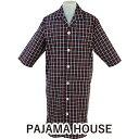 七分袖メンズスリーパー 【pajama house】パジャマハウス ダブルタッターソール 前開き 男性用 カラー:ネイビー 日本…