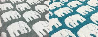 【Finlayson】フィンレイソンハーフケットゾウ柄ぞう象サイズ:100×140cmグレーブルー西川ウォッシャブル北欧FI8652【あす楽対応】