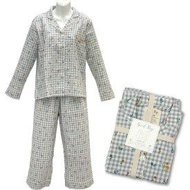 ACCENT アクセント レディース ルームウェア 上下セット ボタニカル フリーサイズ(155~160cm程度) グレー 綿100% GoodSleep SLOTH(スロース)くま クマ 熊 部屋着 パジャマ 女性用 婦人用