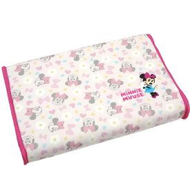 ソフト低反発まくら ジュニア用 25x35cm 高さ4〜5cm ミニーマウス 可愛いディズニーキャラクター 子供用枕 子ども用 枕カバーはマイクロファイバー生地 子供部屋用