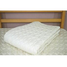 【西川リビング】洗えるベッドパッド  ウール100%(日本製) ワイドダブルサイズ 155X200cm 西川寝具 ウールベッドパッド 1337-09808