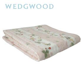ウェッジウッド WEDGWOOD 綿毛布(毛羽部分) シングル 140×200cm ワイルドストロベリー 日本製/ピンク 東京西川 FQ07101000