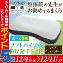整体師が勧める枕 約32×54cm 選べる2種 ソフトパイプ枕or低反発チップ枕 枕 整体枕 まくら 快眠枕 首・肩サポート 横…