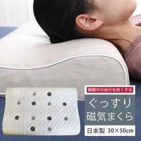 【期間限定価格】磁気枕 肩こり 医療用具許可商品 敬老 還暦磁気まくら 健康枕 首こり ストレートネック 血行を良くしてコリをほぐす 永久磁石