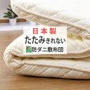【期間限定ポイント大幅UP!要エントリー】たたみきれない程の敷布団 シングル 極太 防ダニ 抗菌防臭 重量5.0kg 日本製…