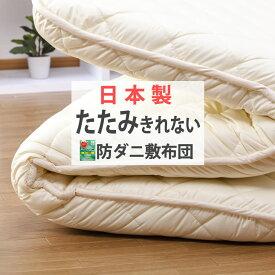たたみきれない程の敷布団 シングル 極太 防ダニ 抗菌防臭 重量5.0kg 日本製 極厚11cm 詰め物 しき布団 固綿 腰痛 マイティトップ シングル敷き布団 『アポロン2』 両面使える リバーシブル 敷きふとん 寝具