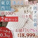 まとめ買い 送料無料 肌掛け布団 シングル 東京西川 送料無料 サラサラで気持ちがいい!西川 夏用 羽毛布団 シングル『ウクライナ産』ダウン85% 0.3kg 綿100%洗える!東京 西川産業 日本製