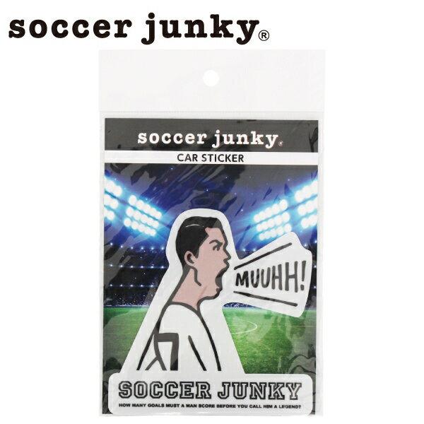 サッカージャンキー カーステッカー MUUHH! SJ0555【フットサル サッカー】