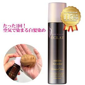 【公式】ヘアボーテエクラ ボタニカル エアカラーフォーム ナチュラルブラック 150g(白髪染め)(医薬部外品)(セミロング:全体1回+リタッチ11回程度)