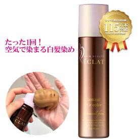 【公式】ヘアボーテエクラ ボタニカル エアカラーフォーム ダークブラウン 150g(白髪染め)(医薬部外品)(セミロング:全体1回+リタッチ11回程度)