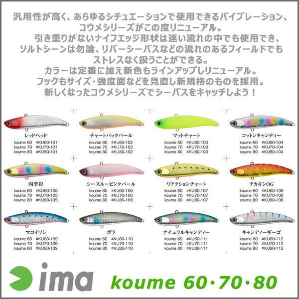 ima(アイマ)/koume 80 #KU80-107 リアクションチャート
