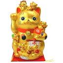 【送料無料】《日本の縁起物》◆招き猫◆◆右手を挙げた・金運招き猫◆NO-13《金運!七福神招き猫》子ねこ★ご利益★…