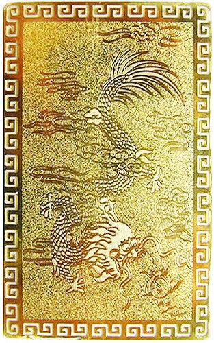 【郵便で送料無料】風水の開運カード【NO-1】■五本爪の皇帝龍■(金属製) 護符 風水グッズ/開運アイテム/縁起物/お守り【YDKG-td】【smtb-td】