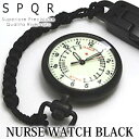 SPQR NURSE WATCH BLACK 【 時計 防水 ナースウォッチ 】