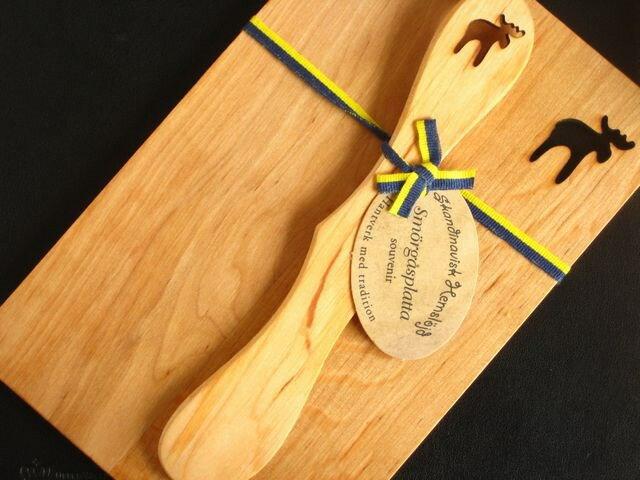 スカンジナビスク ヘムスロイド (Skandinavisk Hemslojd)/ウッドボード&ナイフ セット (Wood Board & Knif Set)/『ヘラジカ』木製プレート 北欧雑貨|キッチン雑貨|北欧|プレゼント|ギフト|お返し|引っ越し祝い