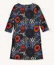マリメッコ Marimekko/シールトラプータルハ Siirtolapuutarha/ Unelma dress(ダークブルー×ブルー×レッド)/ワンピース