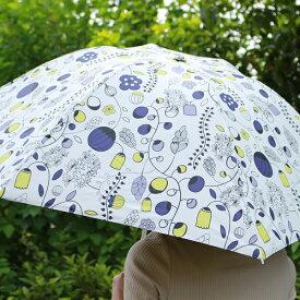 折りたたみ 日傘 晴雨兼用 北欧 デザイン Korko コルコ クイックオープン 50cm My beloved garden 大好きなガーデン 傘 軽量 軽い UVカット 完全遮熱 紫外線対策 北欧 レディース おしゃれ