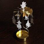【メール便OK】ムーミンファミリー(ホワイト×ゴールド)キャンドルホルダームーミンシリーズプルート・プロダクトロータリーキャンドルホルダー