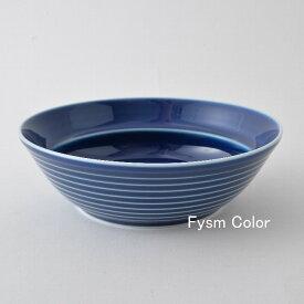 1,500点以上の波佐見焼ショップ|FysmColorCOMMO コモ ボール(中)青 白山陶器 波佐見焼 すくいやすい大皿 おかず スープ皿15.5cm 高さ5cm