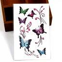 タトゥーシール フェイクタトゥー 蝶 チョウ バタフライ butterfly ファッションシール 刺青 入れ墨 文身 tattoo 送料…