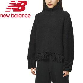 ニューバランス BALANCE フリンジセーター WT93471-BK レディース 19FW New Balance【在庫処分特価】 クリアランスセール 長袖 ロングスリーブ