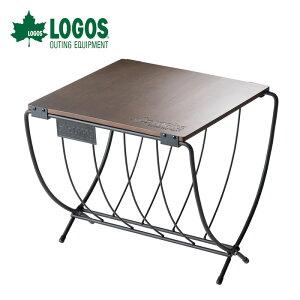 10%OFFクーポン対象 ロゴス LOGOS ワイド薪ラックウッドテーブル 81064183