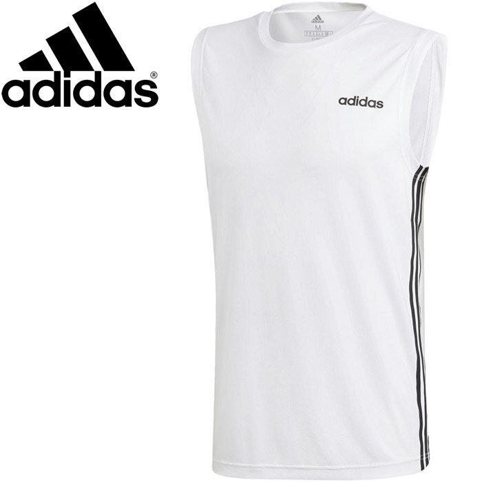 【2点までメール便送料無料】アディダス M CORE スリーブレス3ストライプスTシャツ メンズ FSF39-DU1249