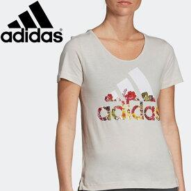 【在庫処分】【2点までメール便送料無料】アディダス W 半袖 フラワー Tシャツ レディース FSR83-DV2999 【ad0611】