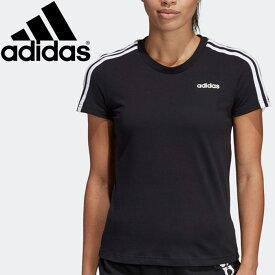 【2点までメール便送料無料】アディダス W 半袖 3スト Tシャツ レディース FRU57-DP2362