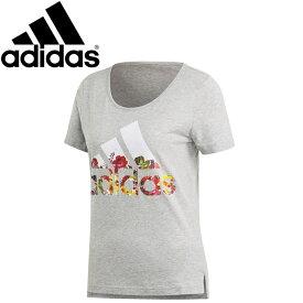 【在庫処分】【2点までメール便送料無料】アディダス W 半袖 フラワー Tシャツ レディース FSR83-DV2996