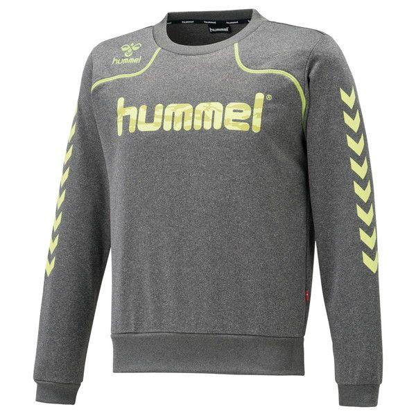 ○17FW hummel(ヒュンメル) トレーニング シャツ 長袖 スウェット メンズ レディース スウェットクルーネック HAP8179C-03