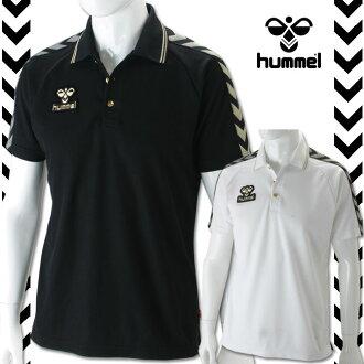 ★清仓贱卖! 男子的hummel(ヒュンメル)14SS PRECIOUS-HUMMEL开领短袖衬衫HAP3028MX