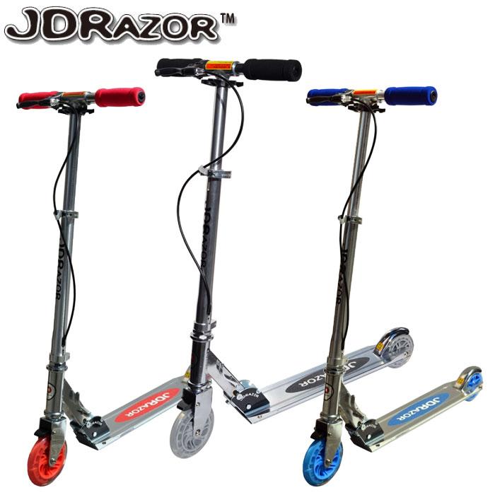 【ポイントアップ祭!】JD Razor キックスクーター キックスケーター キックボード MS-105R-B