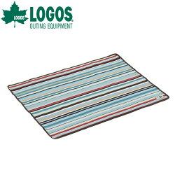 LOGOSロゴスオックス防水シート・ソロ(73×95cm)(ブルーストライプ)ヨガマットとしても使える防水シート