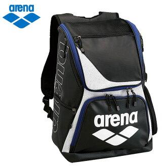◇在体育馆珐琅帆布背包ARN-6431黑色×蓝色包arena 17SS 2017年春天夏天