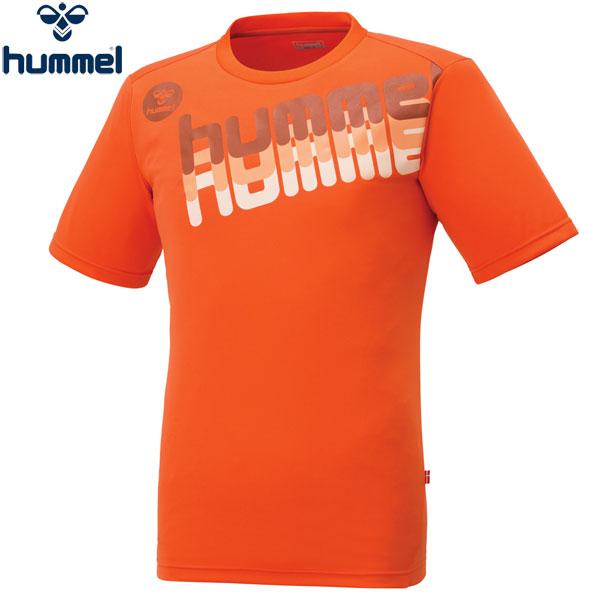 ヒュンメル 半袖Tシャツ メンズ UT-Tシャツ トレーニング ロゴT オレンジ HAP4120 hummel 17SS 2017年春夏