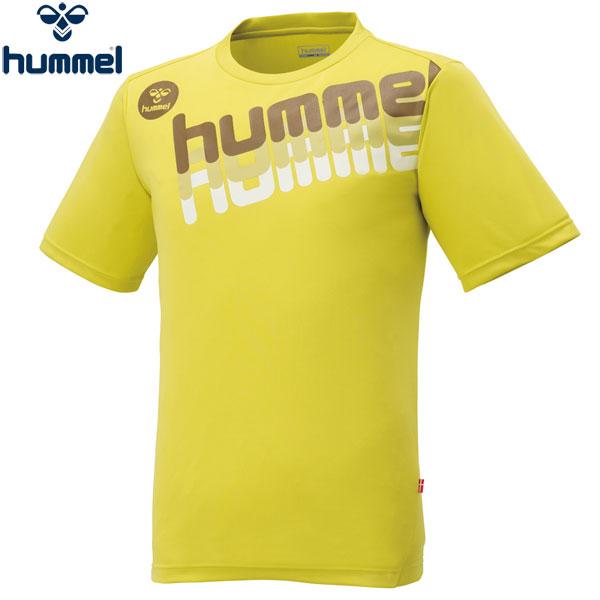 ヒュンメル 半袖Tシャツ メンズ UT-Tシャツ トレーニング ロゴT イエロー HAP4120 hummel 17SS 2017年春夏